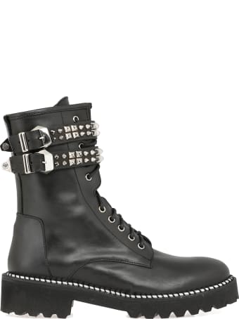 Philipp Plein Army Boot With Studs