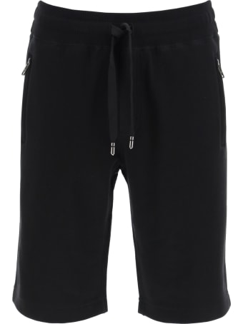 Dolce & Gabbana Bermuda Shorts With Logo Plaque
