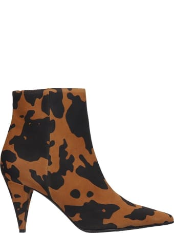 Marc Ellis Ankle Boots In Leather Color Canvas