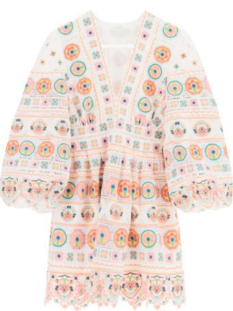 Zimmermann Brighton Mini Dress With Embroideries