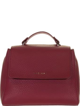 Orciani Sveva Soft Small Leather Handbag With Shoulder Strap