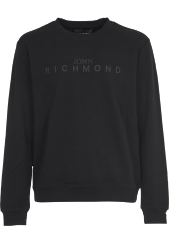 John Richmond Black Swetshirt With Logo