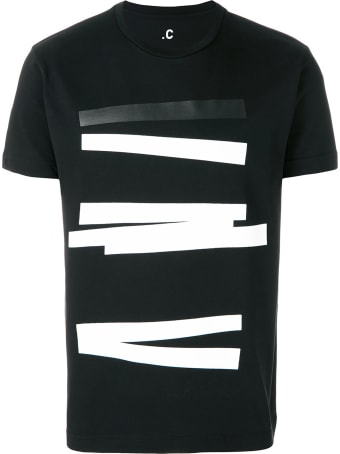 .COMPLAIN Stripes print crew neck t-shirt