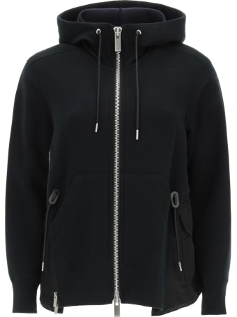 Sacai Hooded Sweatshirt In Cotton And Nylon