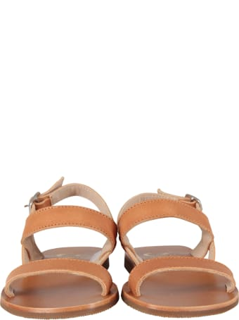 Gallucci Brown Sandals For Girl