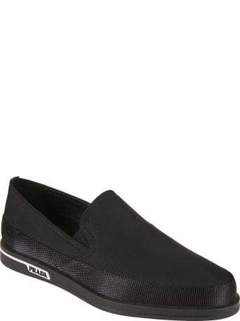 Prada Linea Rossa Side Logo Loafers