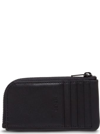 Kenzo Leather Card Holder With Logo