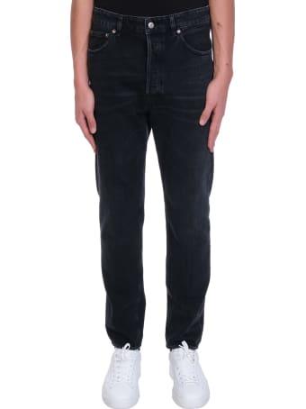 Golden Goose Happy Jeans In Black Denim