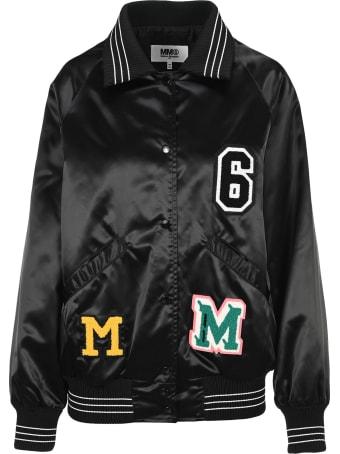 MM6 Maison Margiela Mm6 College Bomber Jacket