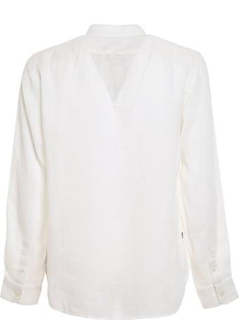 Woolrich Linen Band Collar Shirt