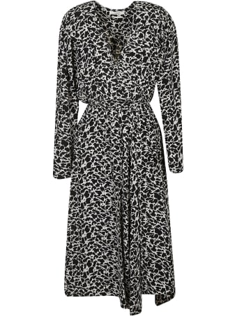 Isabel Marant V-neck Printed Long Dress