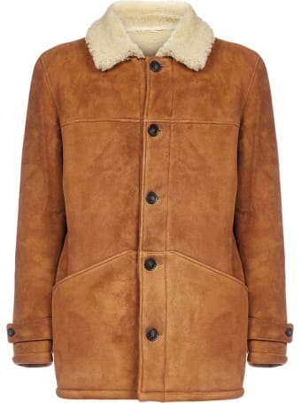Officine Générale Jeff Suede And Shearling Coat