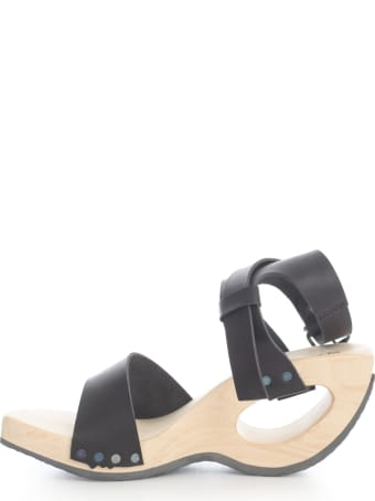 Trippen Open Toe Sandal W/strap On Ankle And Holed Heel