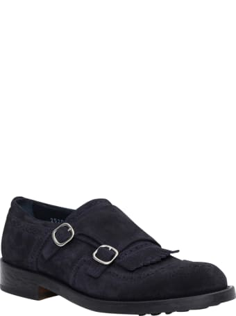 Doucal's Fringed Trim Monk Shoes