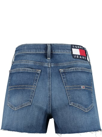 Tommy Jeans High-rise Cut-off Denim Shorts