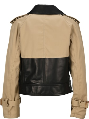 Neil Barrett Layered Effect Leather Jacket