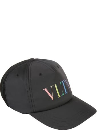 Valentino Garavani Vltn Logo Print Baseball Cap