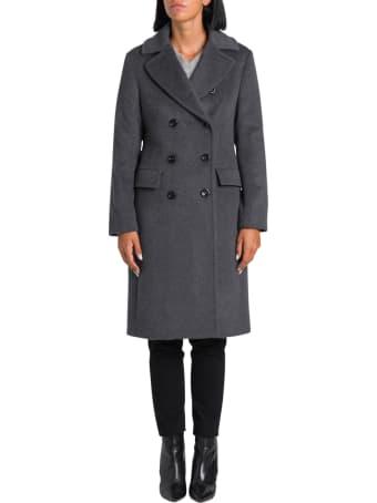 Harris Wharf London Long Military Coat