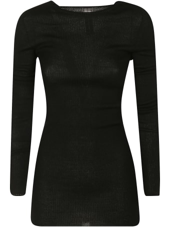 Rick Owens Ribbed Round Neck Pullover