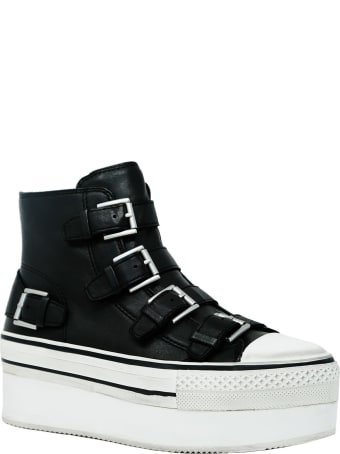 Ash Black Leather Jewel Sneakers
