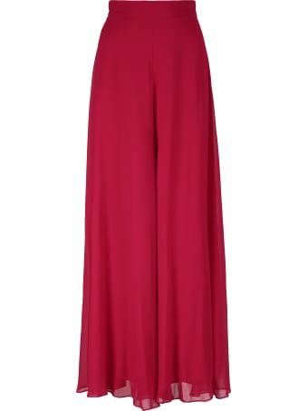 Max Mara Saio Silk Wide Leg Trousers