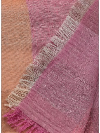 Kangra Cotton And Linen Blend Scarf