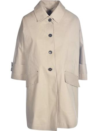 Mackintosh Single-breasted Cropped Sleeve Coat