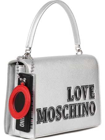 Love Moschino Love Moschino Silver Faux Leather Bag