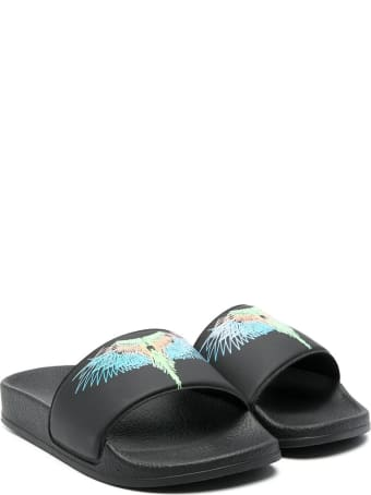 Marcelo Burlon Slippers With Wings Print