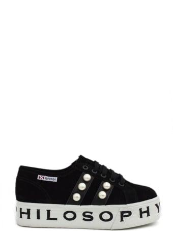 Philosophy di Lorenzo Serafini Superga Sneaker By Philosophy In Black Suede.
