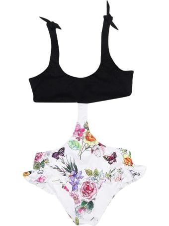 Monnalisa Multicolor Print Swimsuit