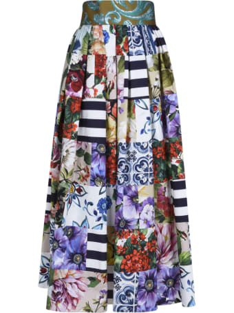 Dolce & Gabbana Flared Printed Skirt