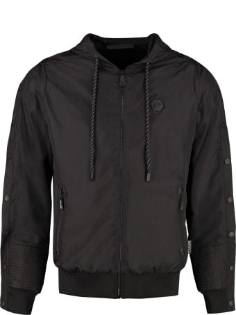 Philipp Plein Hexagon Technical Fabric Sweatshirt