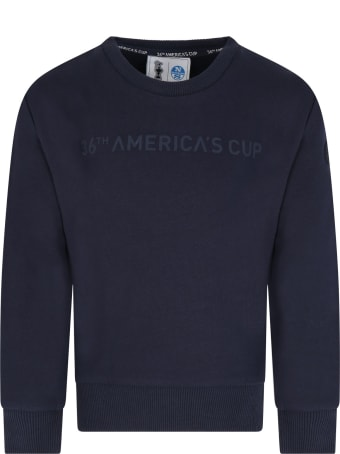 Prada Blue Sweatshirt For Kids With Patch