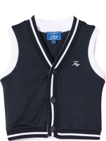 Fay White And Blue Vest