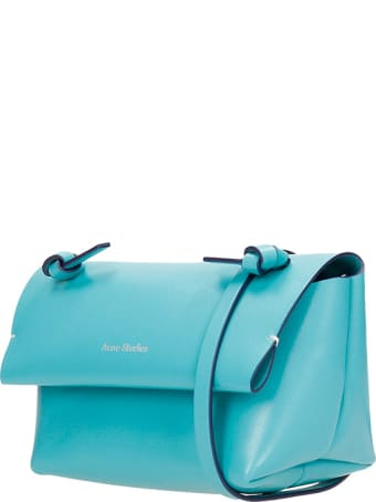 Acne Studios Alexandria Shoulder Bag In Green Leather