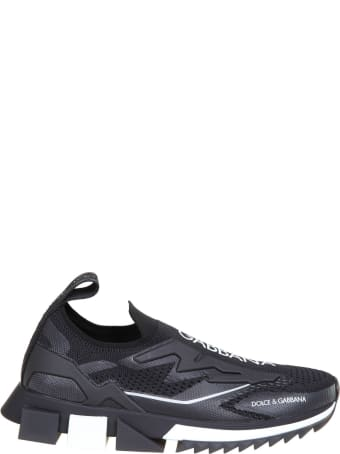 Dolce & Gabbana Sneakers In Stretch Jersey Color Black