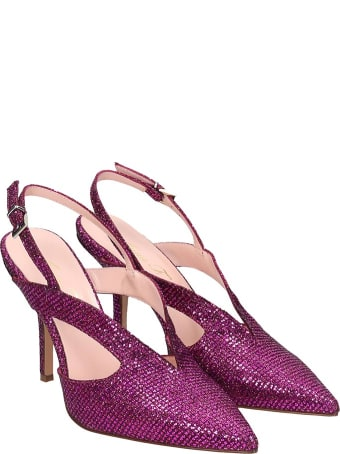 Anna F. Pumps In Fuxia Leather
