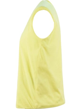 Federica Tosi Yellow Cotton T-shirt