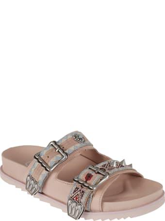 Ash Ulysse Double Buckle Flat Sandals