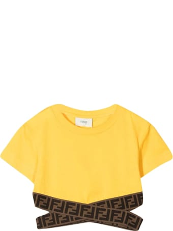Fendi Yellow Short T-shirt