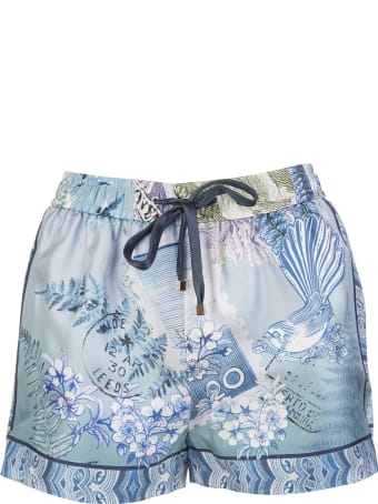 For Restless Sleepers Blue Glauco Pijama Shorts