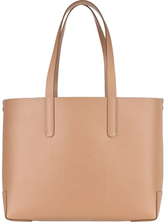 Burberry London Embossed Monogram Leather Tote