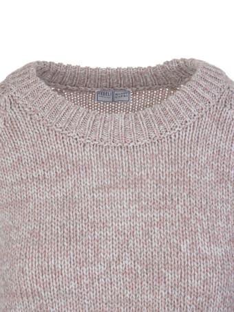 Fedeli Melange Pink Cashmere Woman Sweater