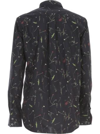 Paul Smith Shirt L/s Rounded Bottom Micro Fantasy