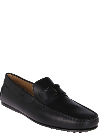 Tod's Black Leather Gommino Loafers