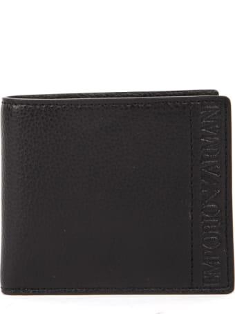 Emporio Armani Black Faux Leather Wallet
