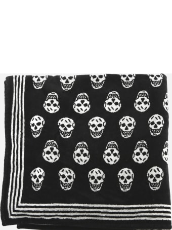 Alexander McQueen All Over Skull Beach Towel