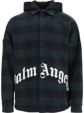 Palm Angels Tartan Hooded Shirt