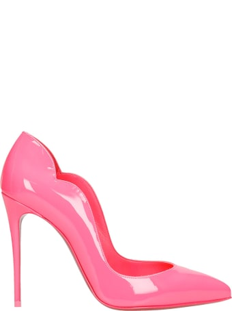 Christian Louboutin Hot Chick 100 Pumps In Fuxia Patent Leather